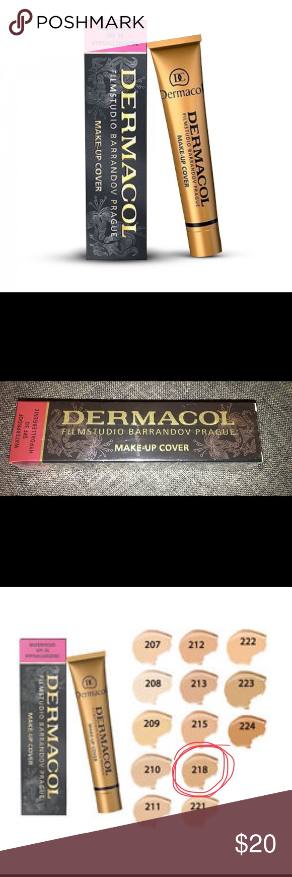 Dermacol make up cover Dermacol make up cover shade 218