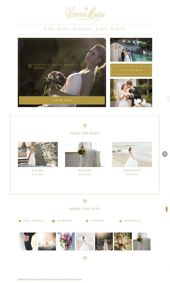 WordPress theme Template for Weddings, bloggers & photographers ...
