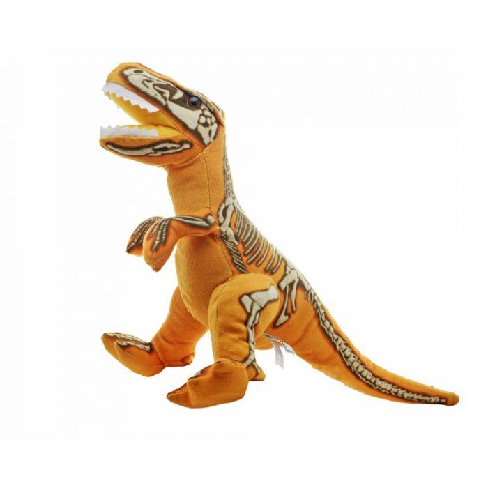 "HMNS Museum Store: 14"" velociraptor skelesaur plush by wildlife artist"