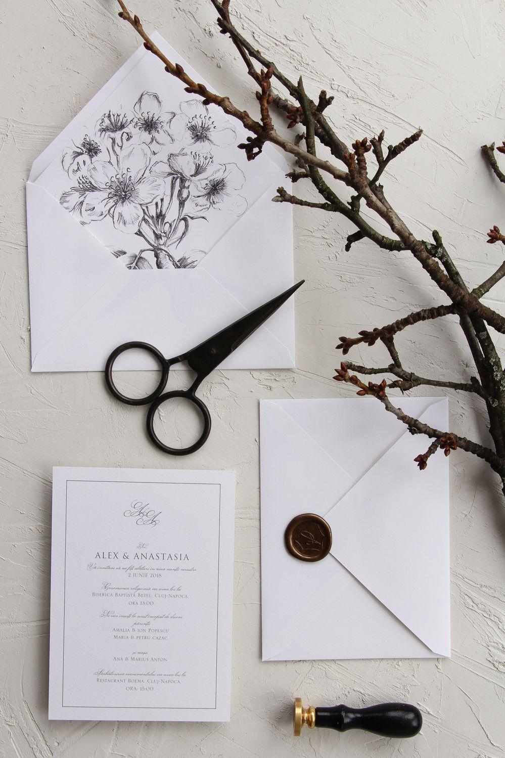 Invitatie Alexanastasia In 2019 Papira Wedding Invitations