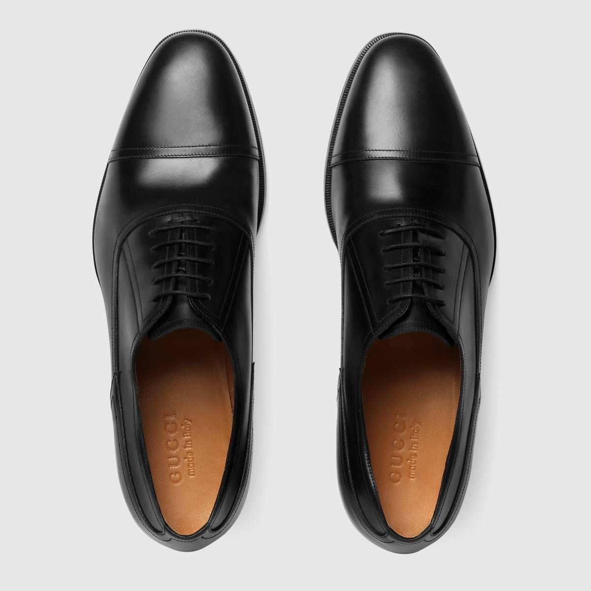 Shop The Leather Lace Up Shoe By Gucci A Classic Leather Lace Up Is Designed With A Sleek Construction In Sh Dress Shoes Men Leather Shoes Men Gucci Men Shoes [ 1200 x 1200 Pixel ]
