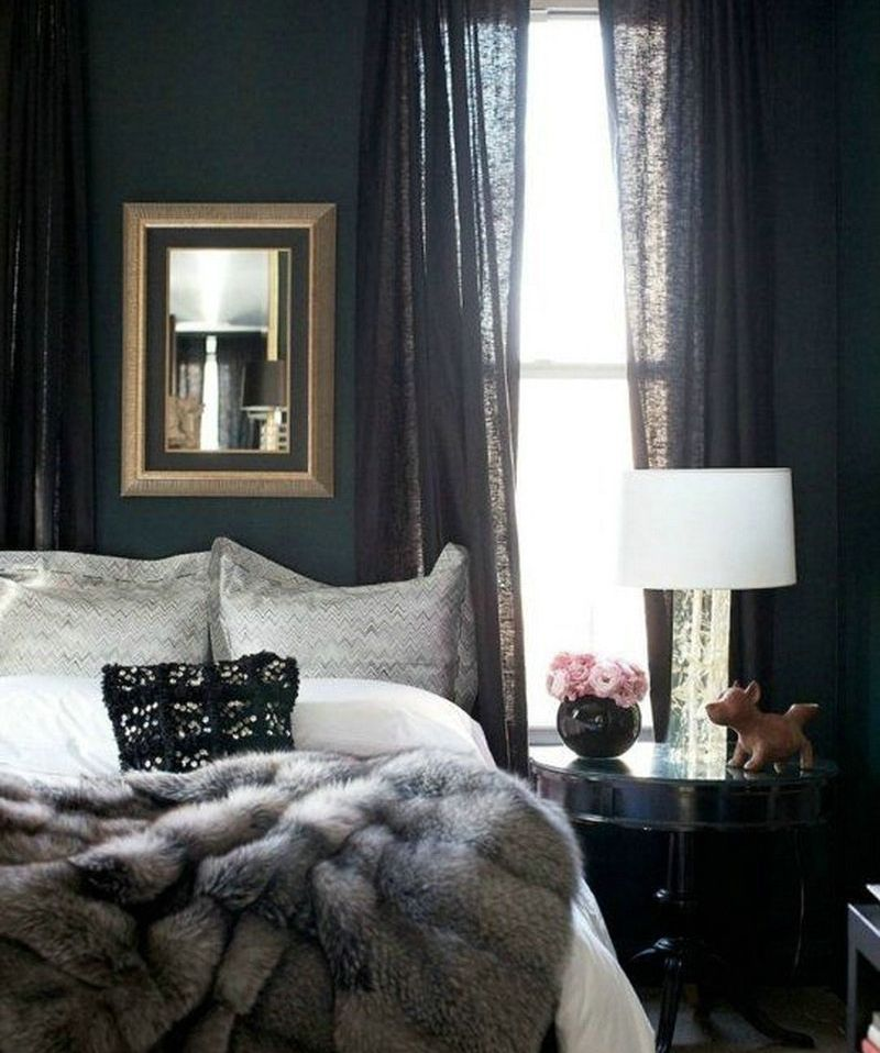 A Dark Cozy Moody Masculine Bedroom Lots Of Wood Dark: What 2017 Color Of The Year Is Right For You