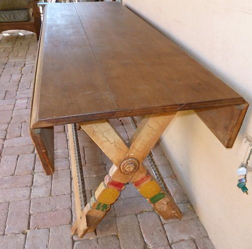 Del Rey Dining Table Early California Monterey Antique 1930S