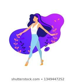 Slim sportive young woman doing sports fitness and yoga exercises sport illustration m