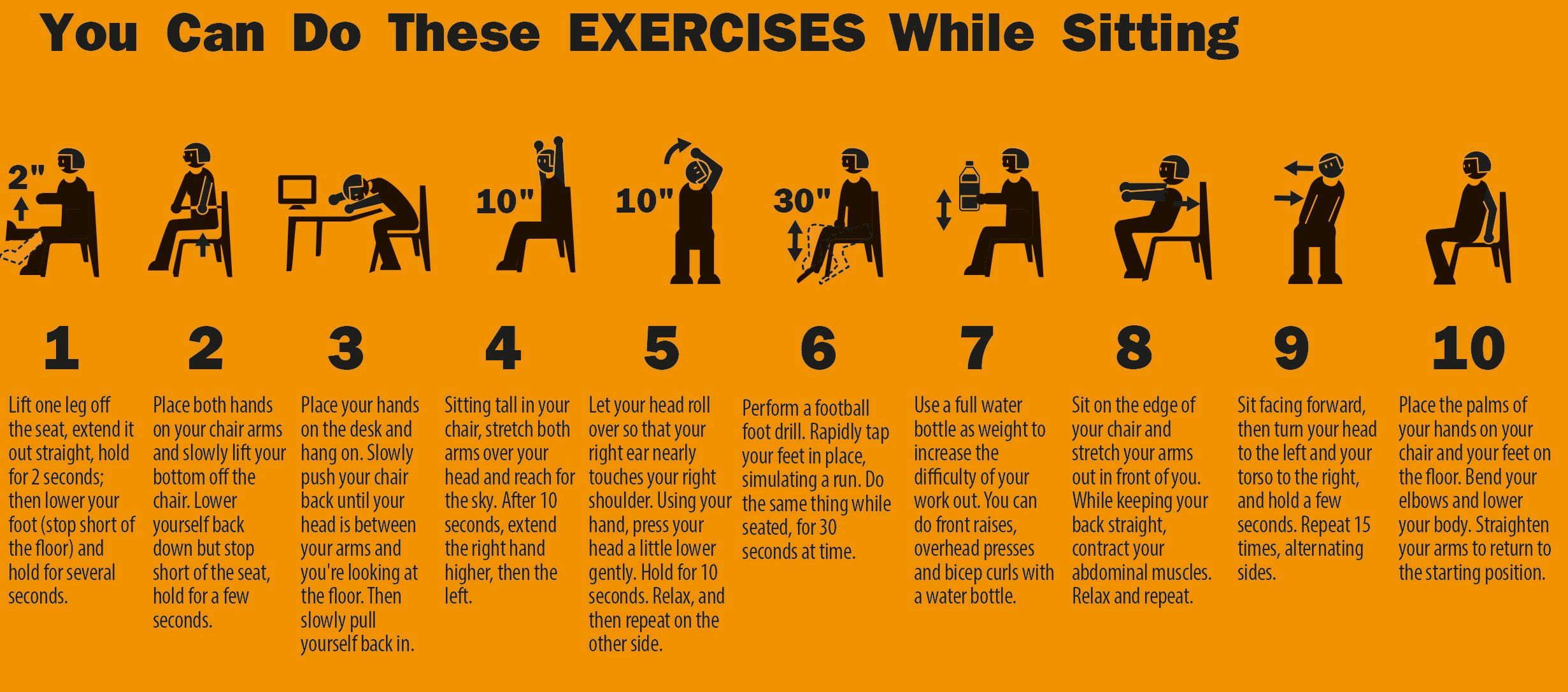 10 Easy Exercises You Can Do At Your Office Cubicle. www.rosiinc.com
