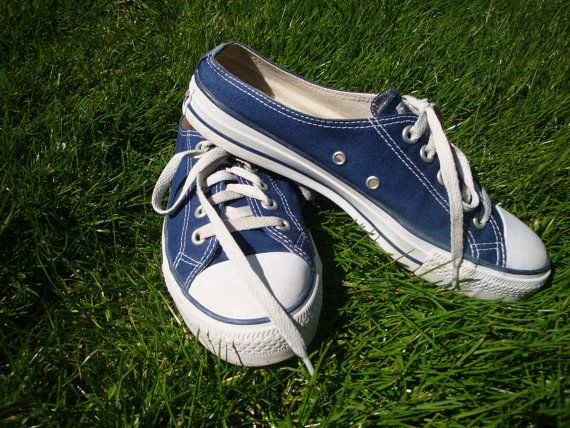 f1752999f4d2 Vintage CONVERSE Navy Blue Mule Chuck Taylor Sneakers - Size 10 ...