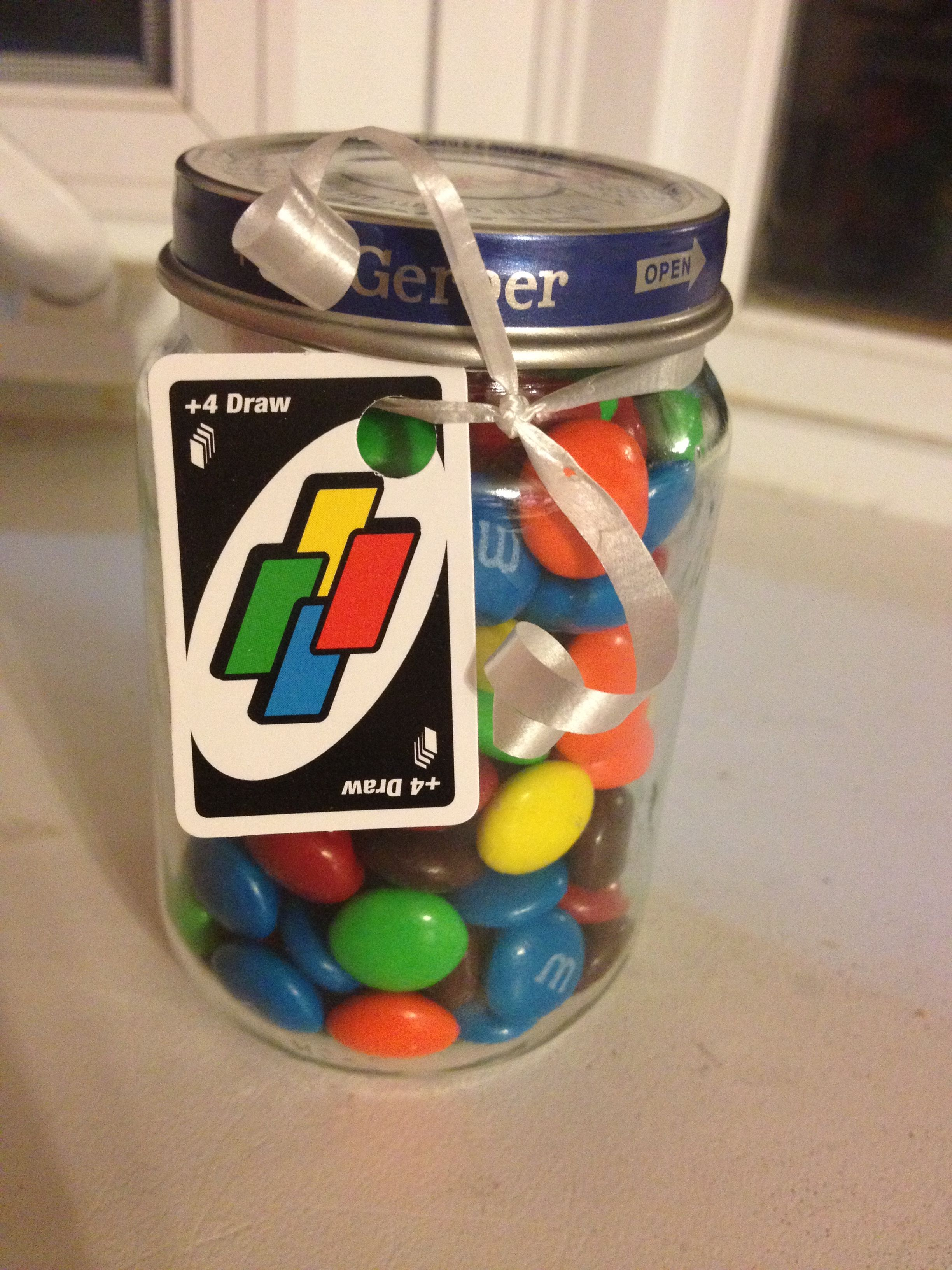 I made these party favors for my daughter's UNO themed first ...
