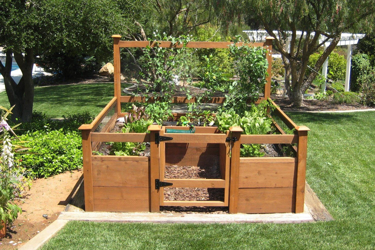 This would be a great way to keep the dog out of the for Garden bed plans