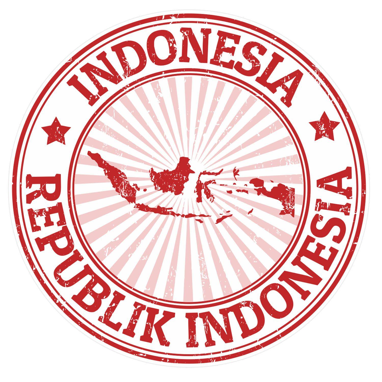 """Bali Island Indonesia Travel Stamp Car Bumper Sticker Decal 5/"""" x 5/"""""""