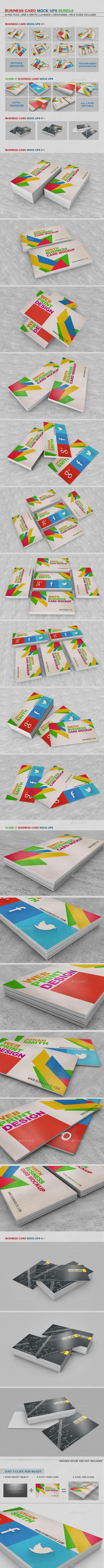 Business card mockups bundle pinterest mockup business cards business card mockups bundle business cards print reheart Images