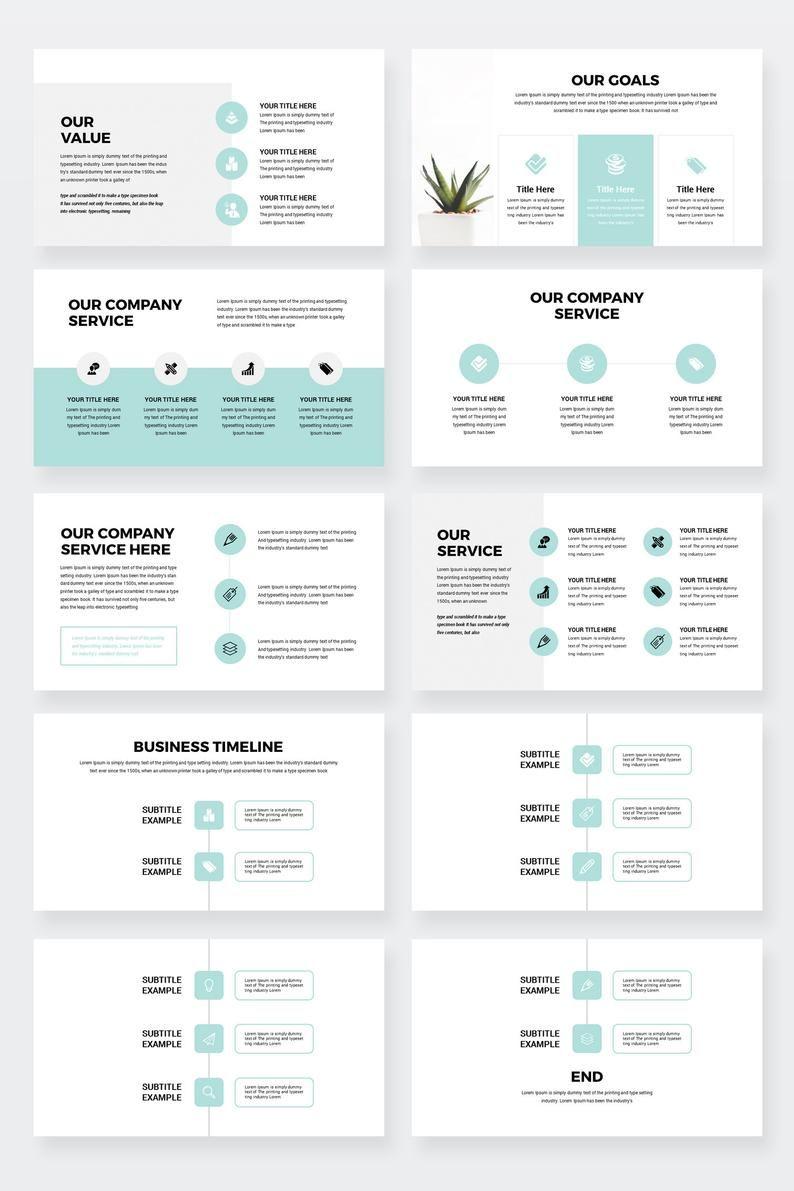 Modern Business Plan Google Slides Template Editable