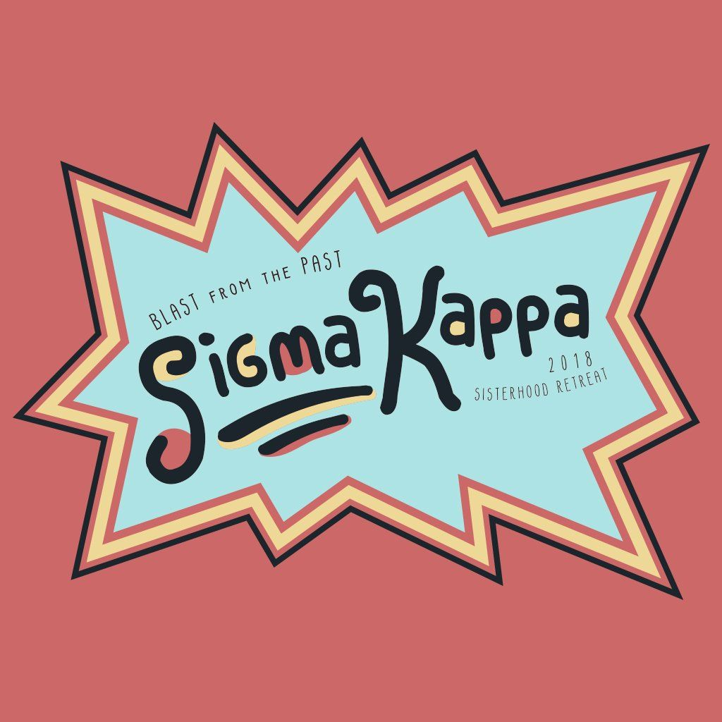 Sigma Kappa Blast From The Past Design Sigma Kappa Sorority Bid
