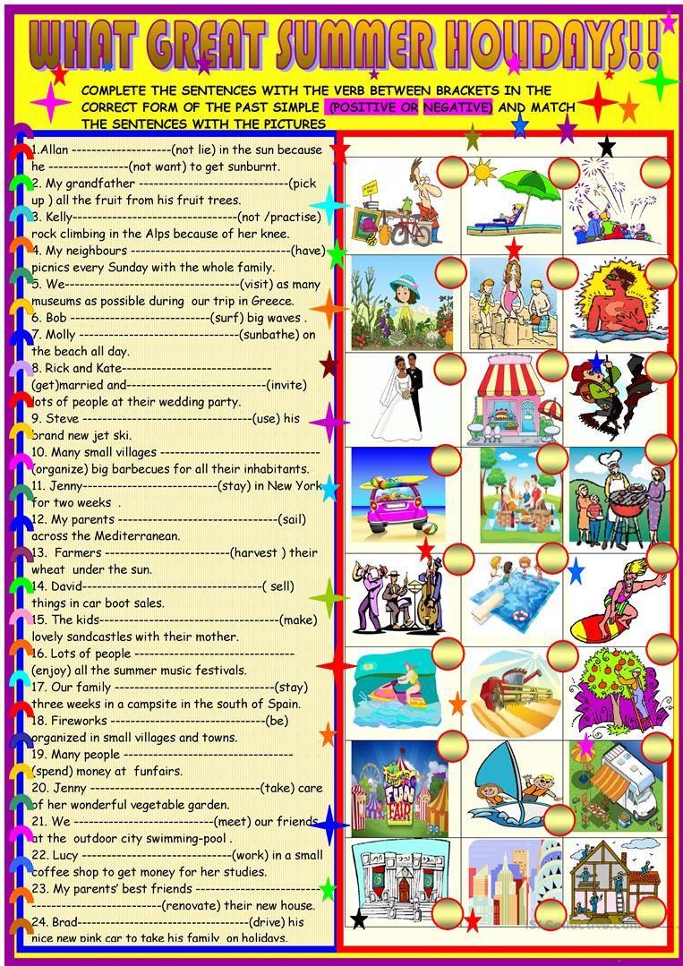 What Great Summer Holidays Past Simple Worksheet Free Esl Printable Worksheets Made By Teachers Regular And Irregular Verbs Irregular Verbs Verb Worksheets [ 1079 x 763 Pixel ]