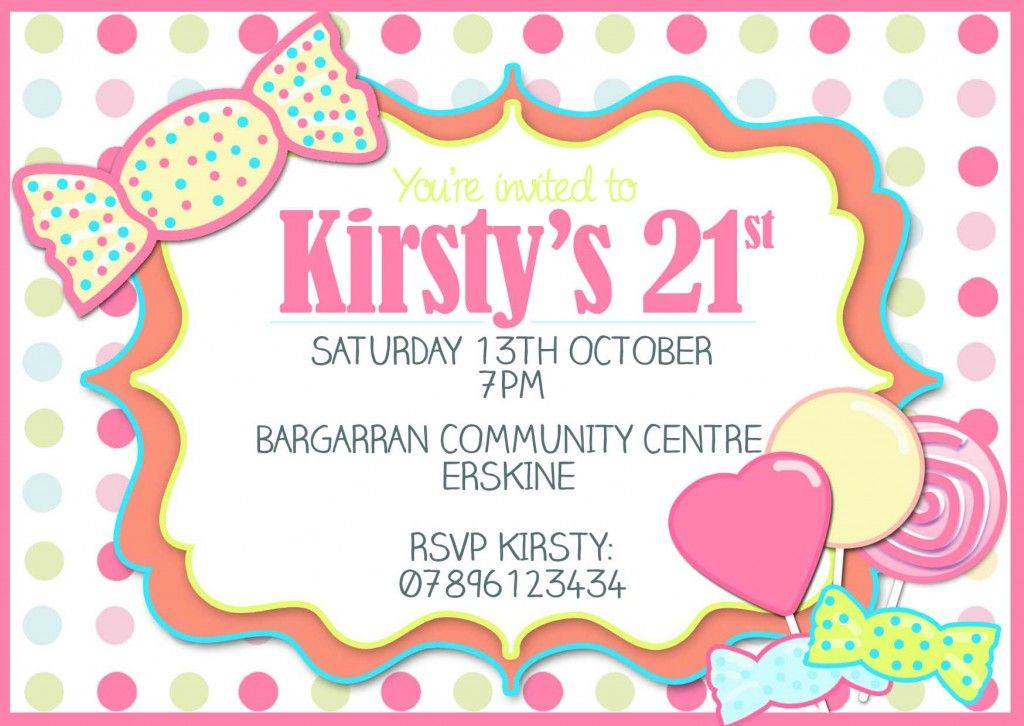 Simple And Lovely 21st Birthday Invitations Birthday Invitation