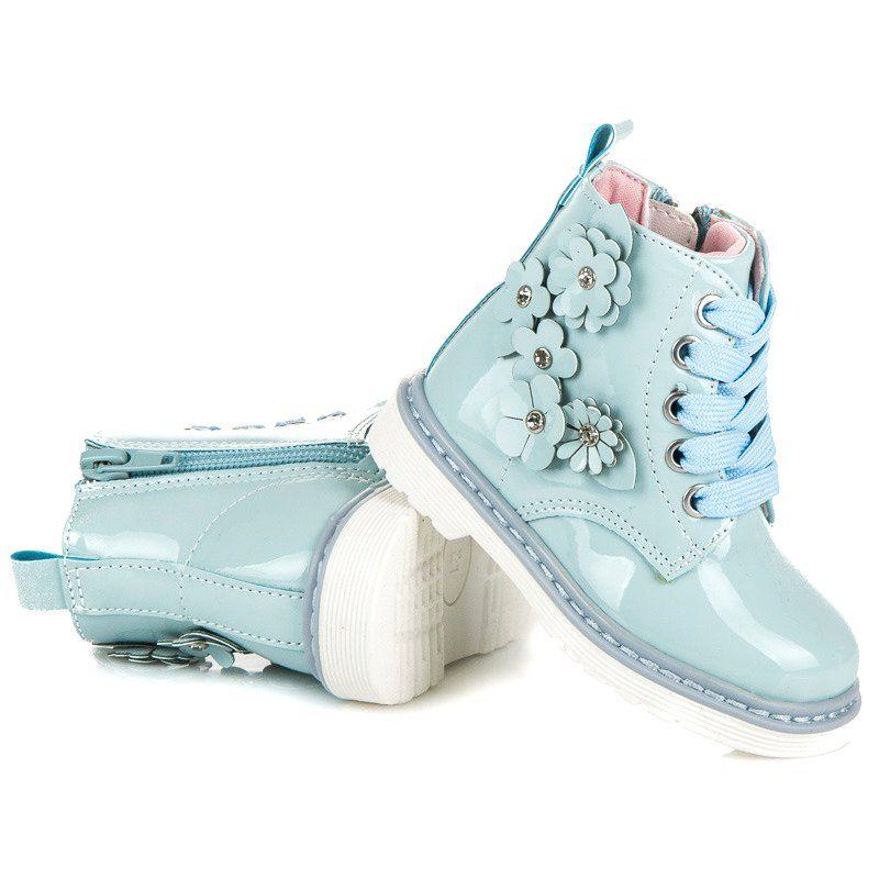 Polbuty I Trzewiki Dzieciece Dla Dzieci Americanclub Niebieskie Trzewiki Na Suwak American Cl Girls Boots Boots Converse Chuck Taylor High Top Sneaker