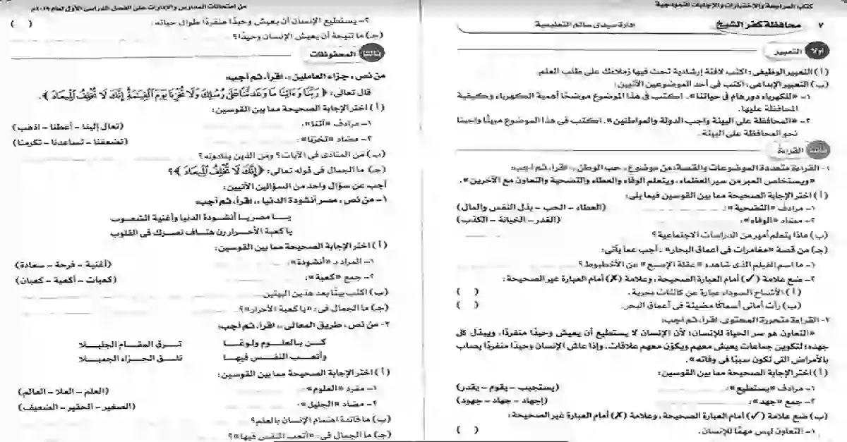 شبكة الروميساء التعليمية نماذج امتحانات لغة عربية للصف الخامس الابتدائى ترم Bullet Journal Journal