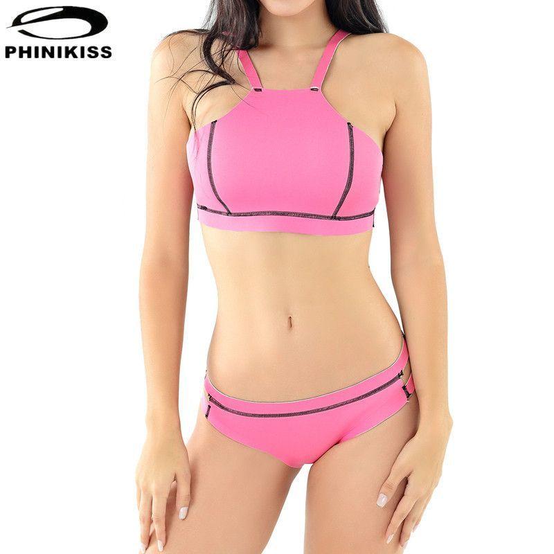 swimming Pink bikini