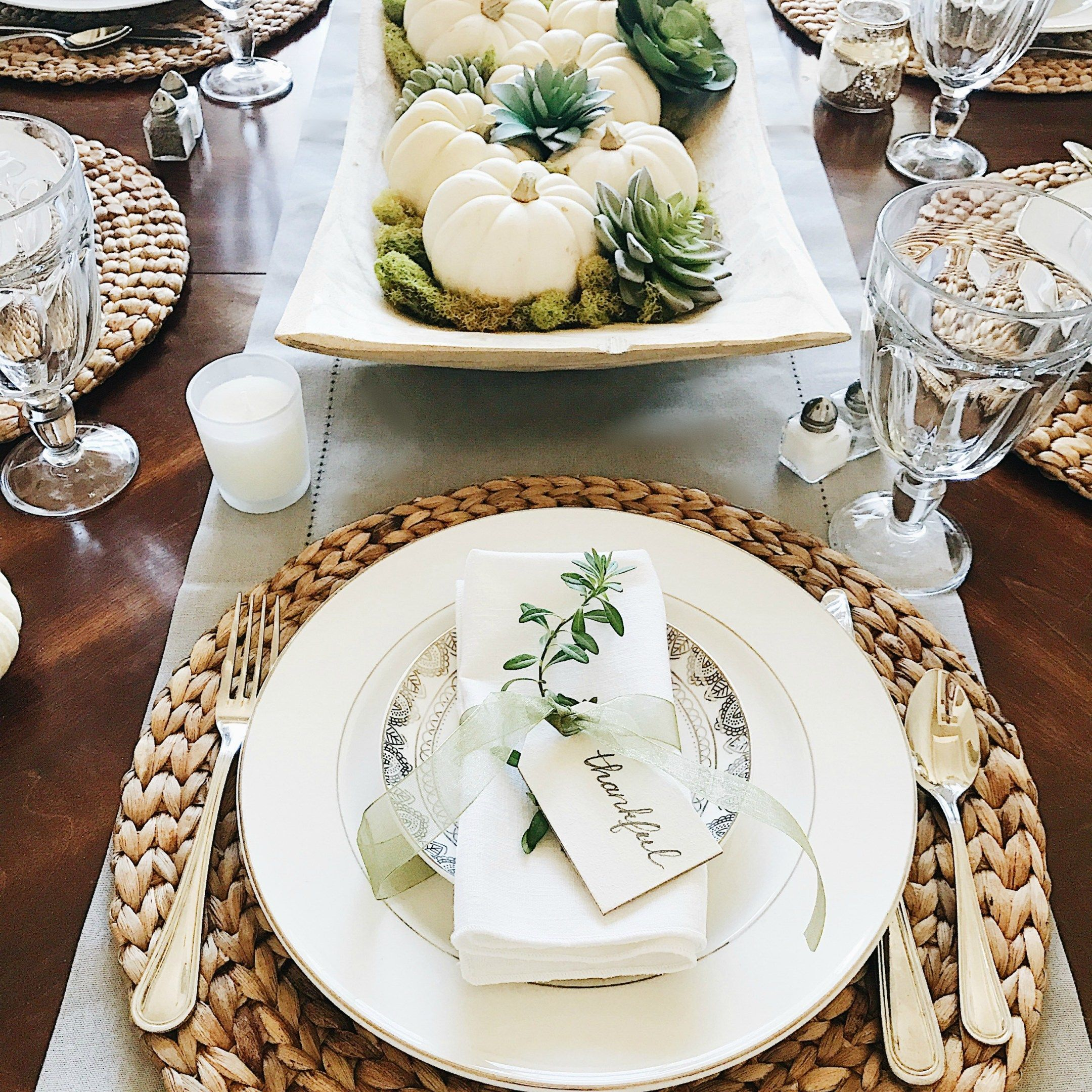 Beautifully Simple Thanksgiving Table Setting Ideas Thanksgiving