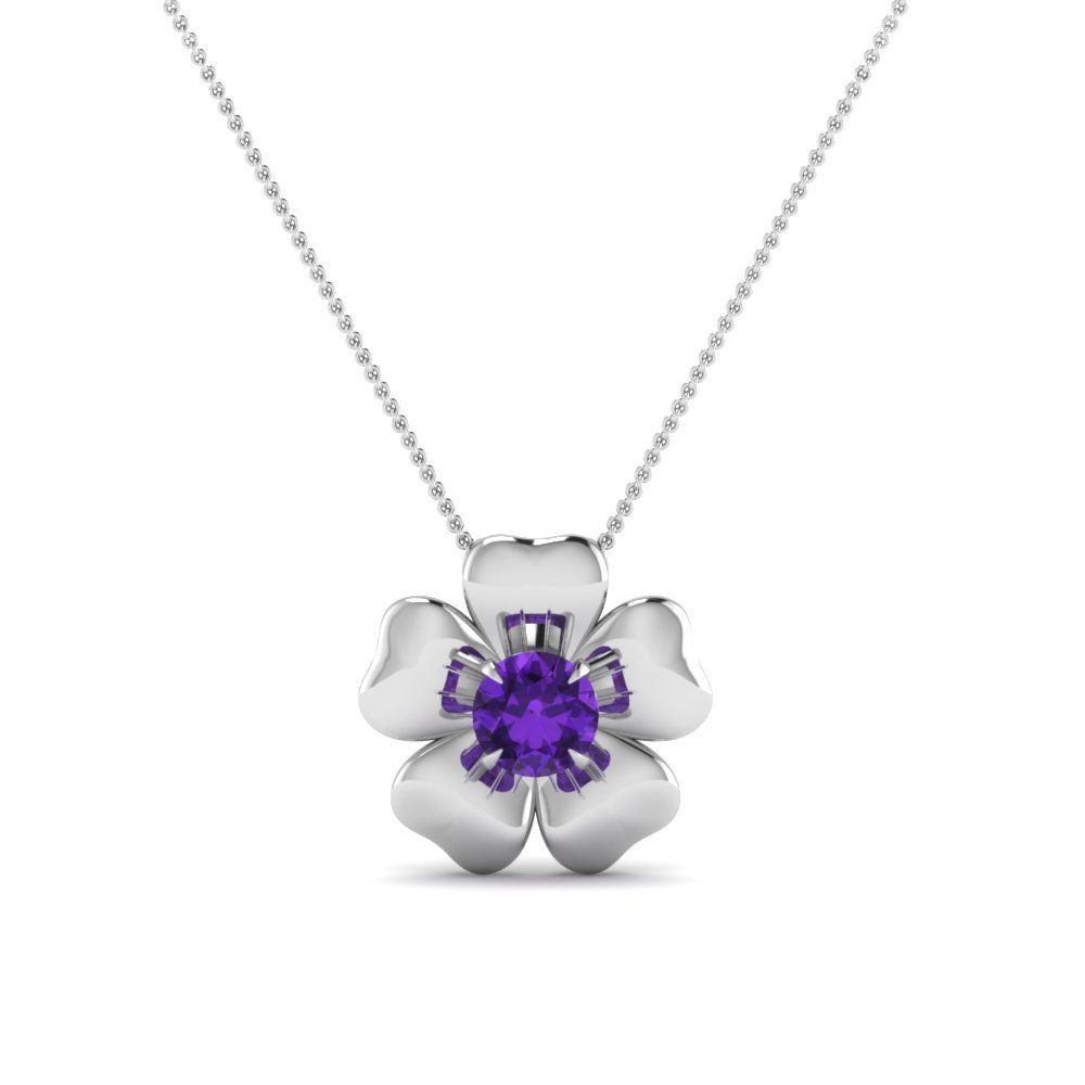 Pendant features a round cut diamond or gemstones of your choice