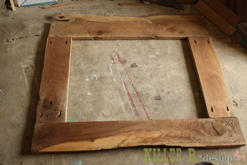 I like this idea to frame a mirror but this one is a little too rustic