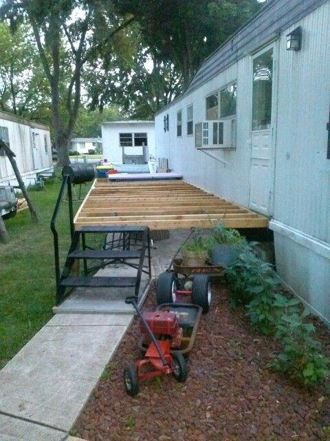 Deck framing is 8' x 27' long...