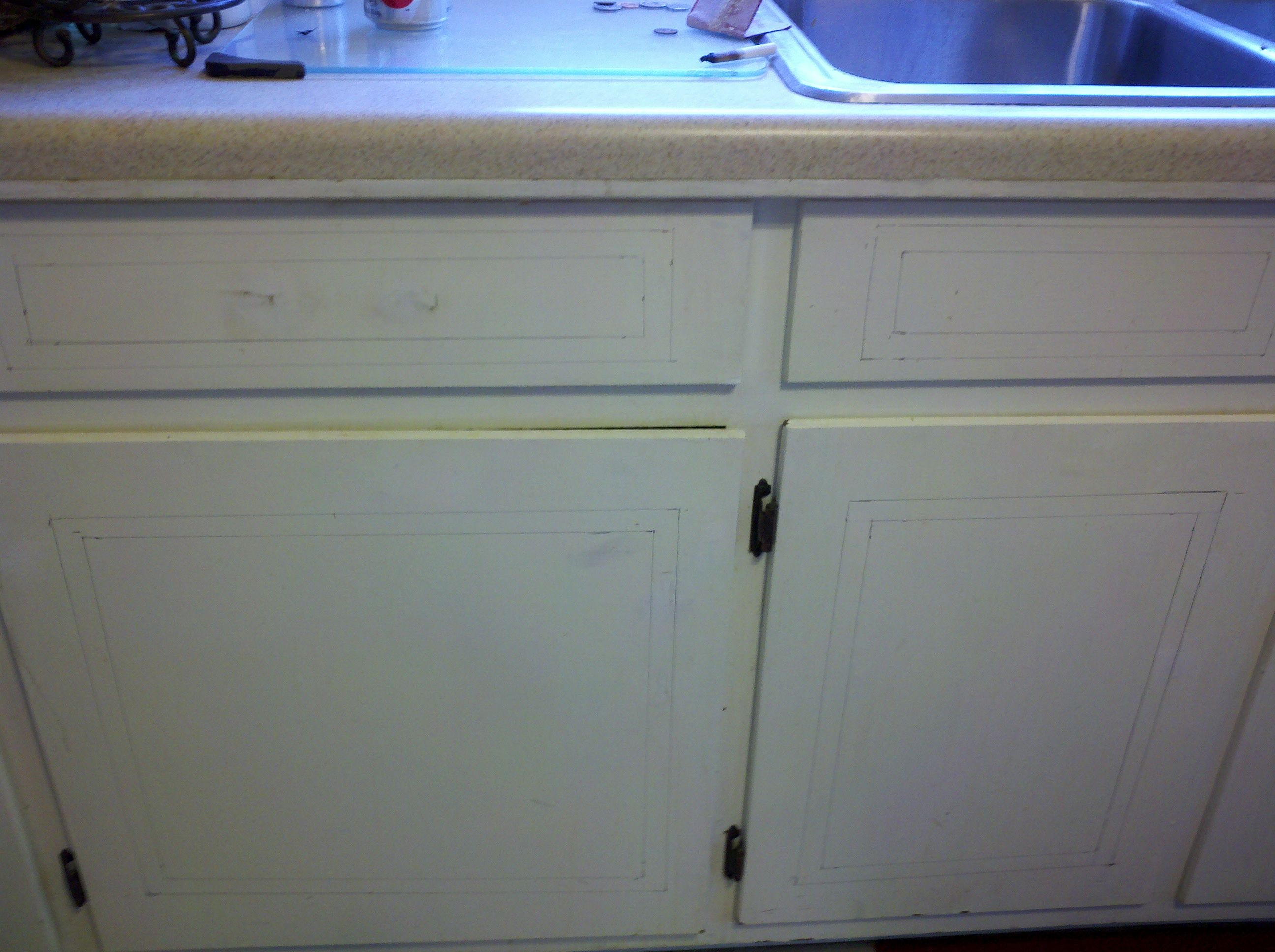 of cabinet moulding. | Kitchen Remodel DIY on a small budget