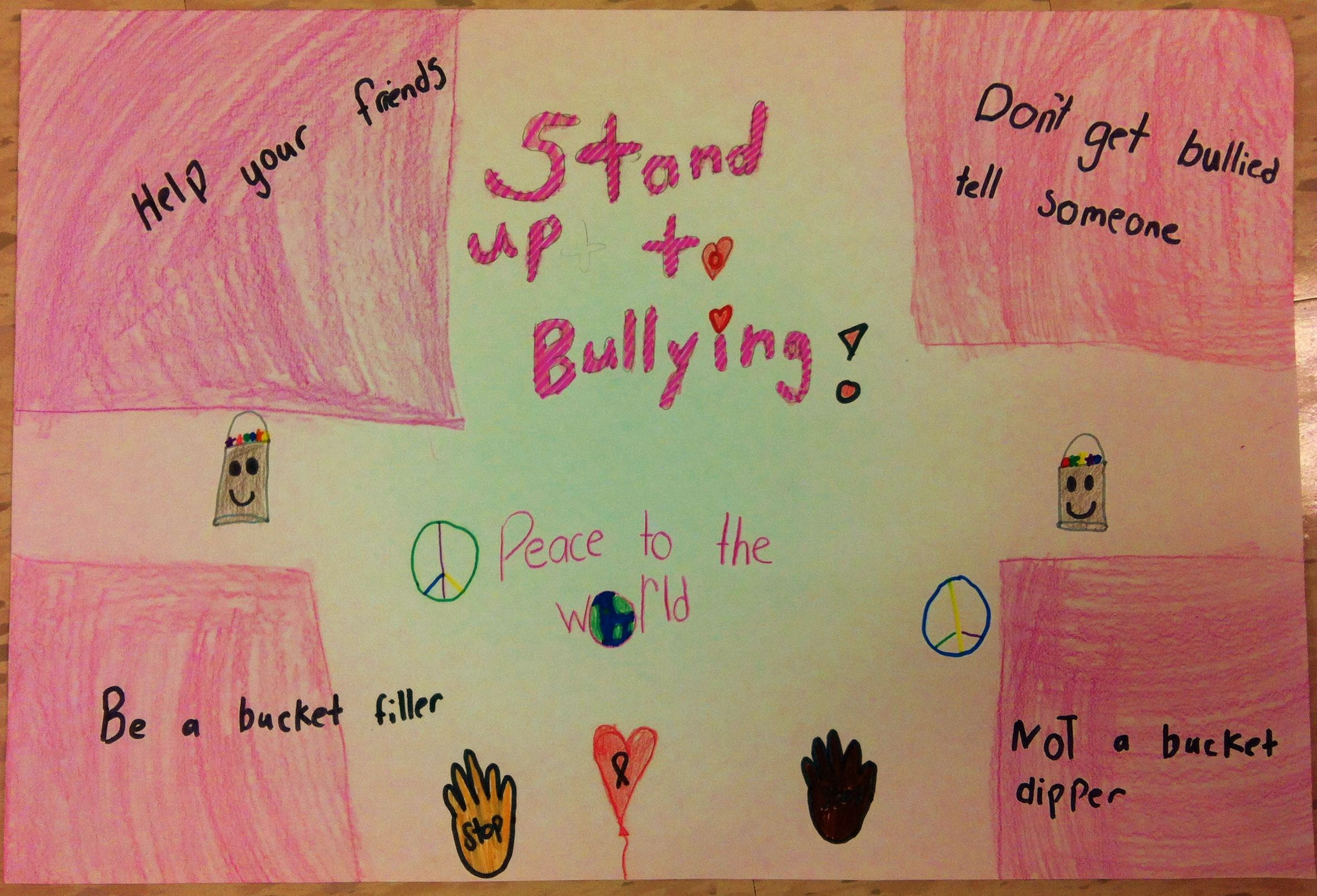Grade 3 Anti Bullying Poster