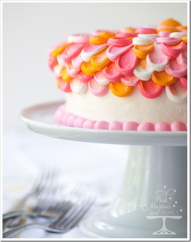 Pretty Pink Petal Cake A Wilton Cake Decorating Technique Petal Cake Cake Decorating Wilton Cake Decorating