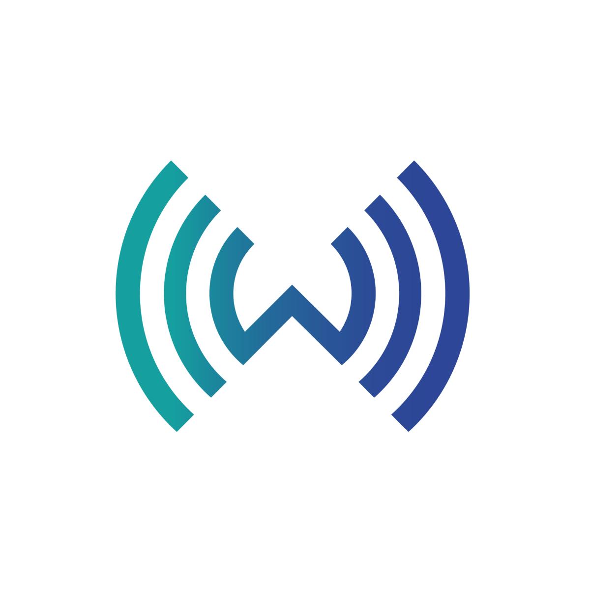 Wireless Group Logo United Kingdom W Logos Letter Logo Single Letter Logo