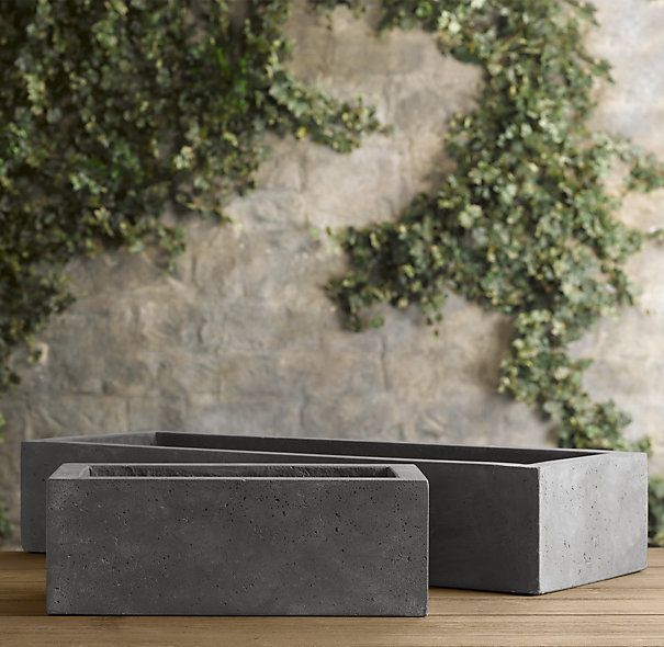 Stone Garden Planters And Troughs Weathered cast stone tabletop trough planter 119 229 lake rhs weathered cast stone tabletop trough planterthe look of timeworn stone belies the more manageable weight of these versatile planters perfect for the workwithnaturefo