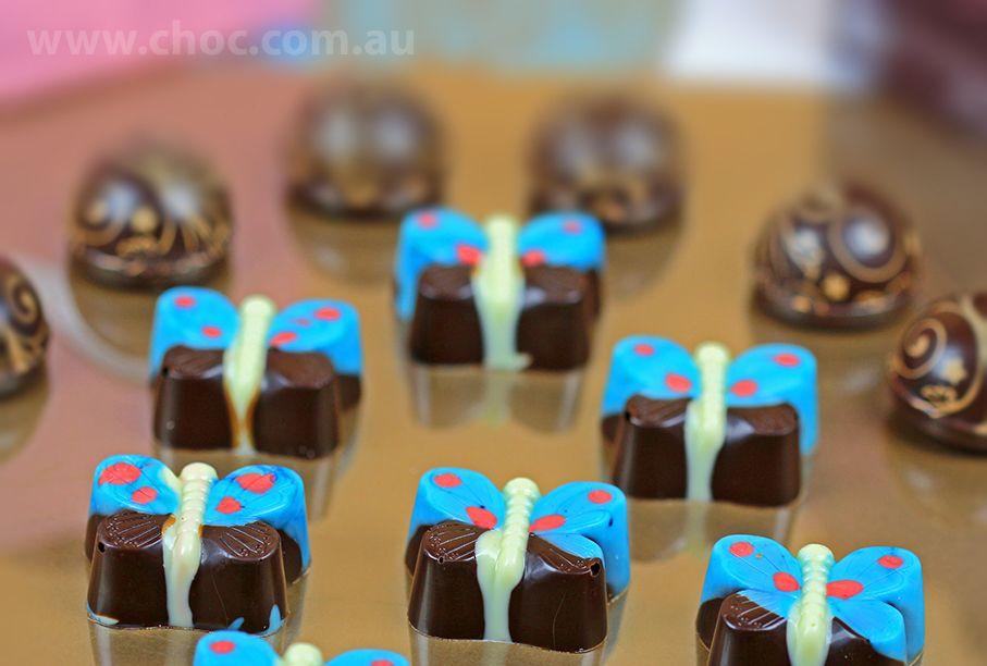 Golden Butterfly  Chocolate  Fardoulis Chocolates, Chocolate Plato  www.choc.com.au