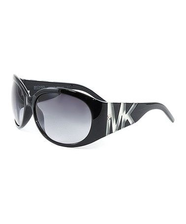 Another great find on #zulily! Black & Gray Gradient 'MK' Oversize Sunglasses #zulilyfinds