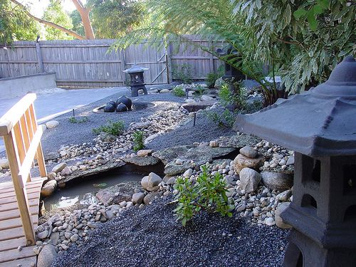 Asian Themed Backyards This Is A Wonderful Example Of The Use Water Hardscape Elements