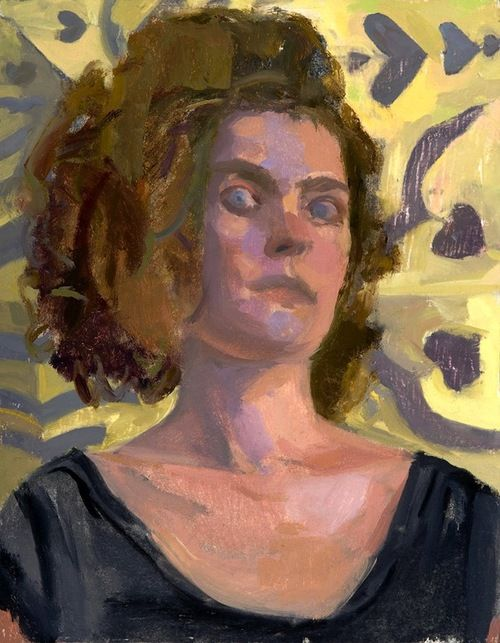 Suzanne Schireson-Crazy Eye, oil on muslin on panel