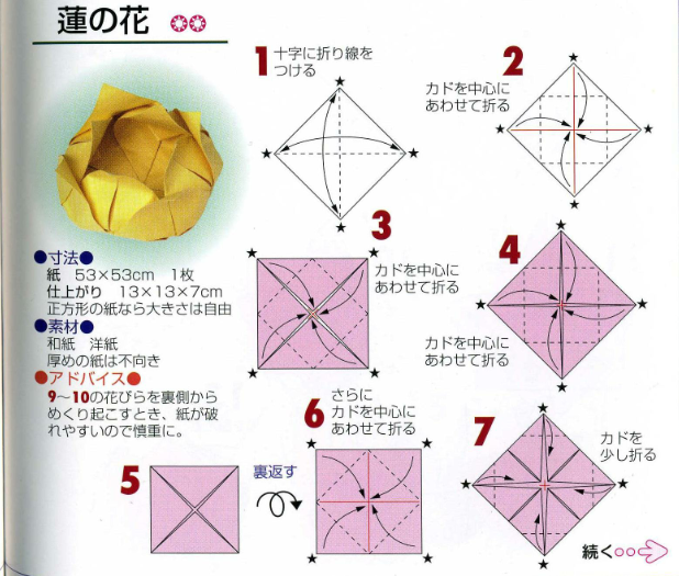 Origami Lotus Flower Tutorial Paper Kawaii Diagramas De Origami Papiroflexia Origami