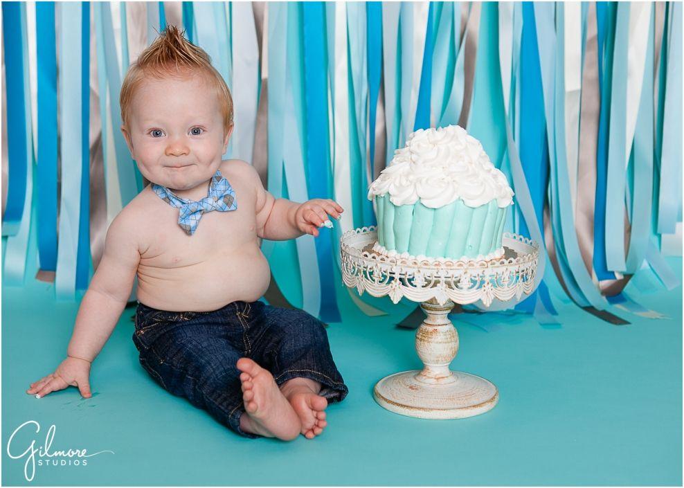 First Birthday Cake Smash  Newport Beach Photography  Gilmore - Cake smash first birthday