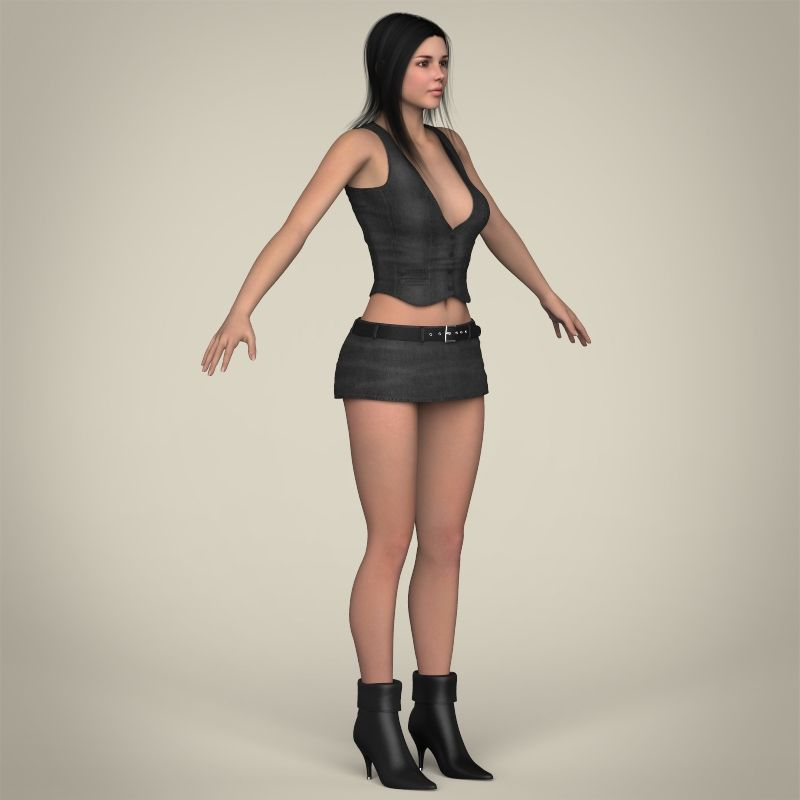 Pin on Women 3D models