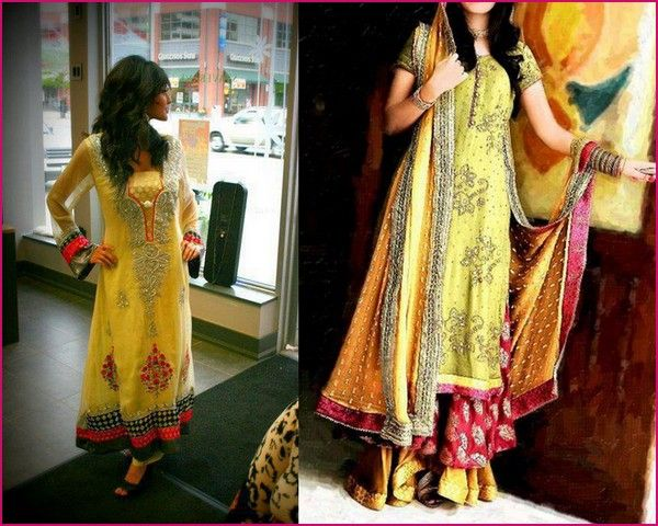 Mehndi Function Dresses 2015 : Mehndi dresses indian pakistani brides reception and