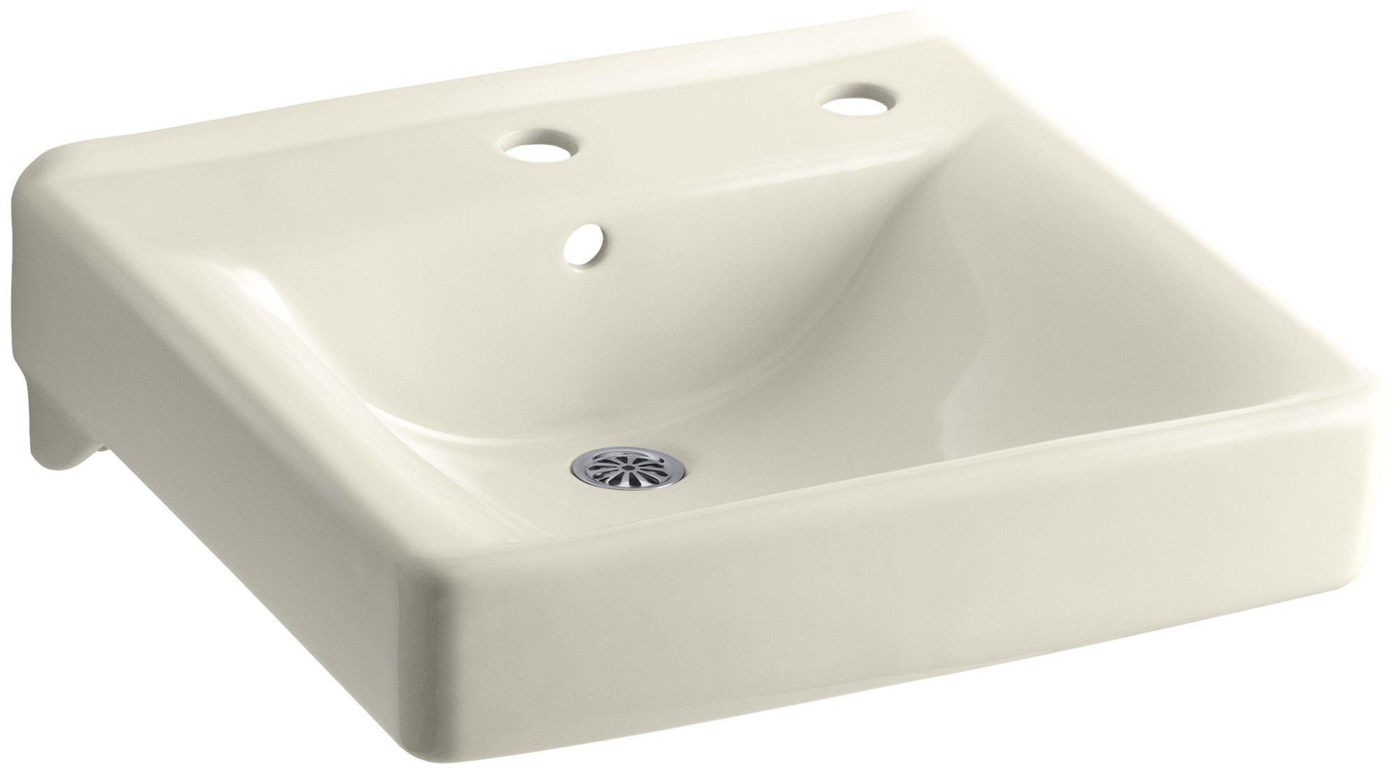 Soho Ceramic 20 Wall Mount Bathroom Sink With Overflow
