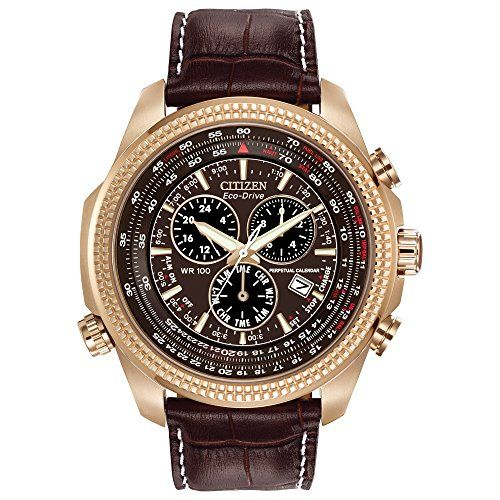 Citizen Mens EcoDrive Chronograph Watch with Perpetual Calendar and Date BL540303X