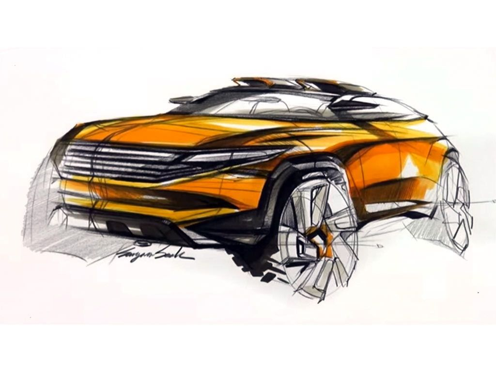 SUV sketch with pencil and markers by Sangwon Seok https://www ...