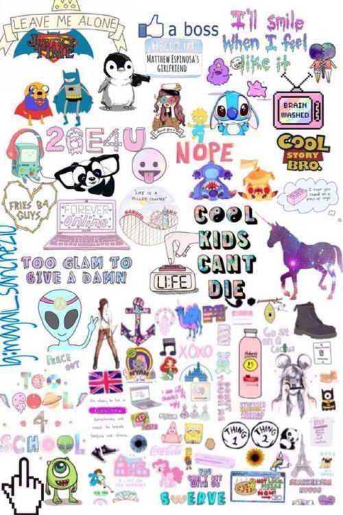 Tumblr Overlays Transparent Collage Tumblr Stickers Overlays Transparent Cute Stickers