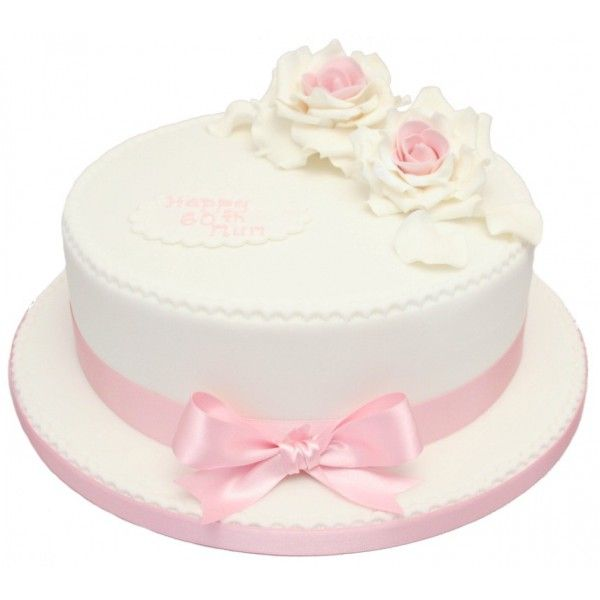 Pink Cakes 60th Pink Rose Birthday Cake