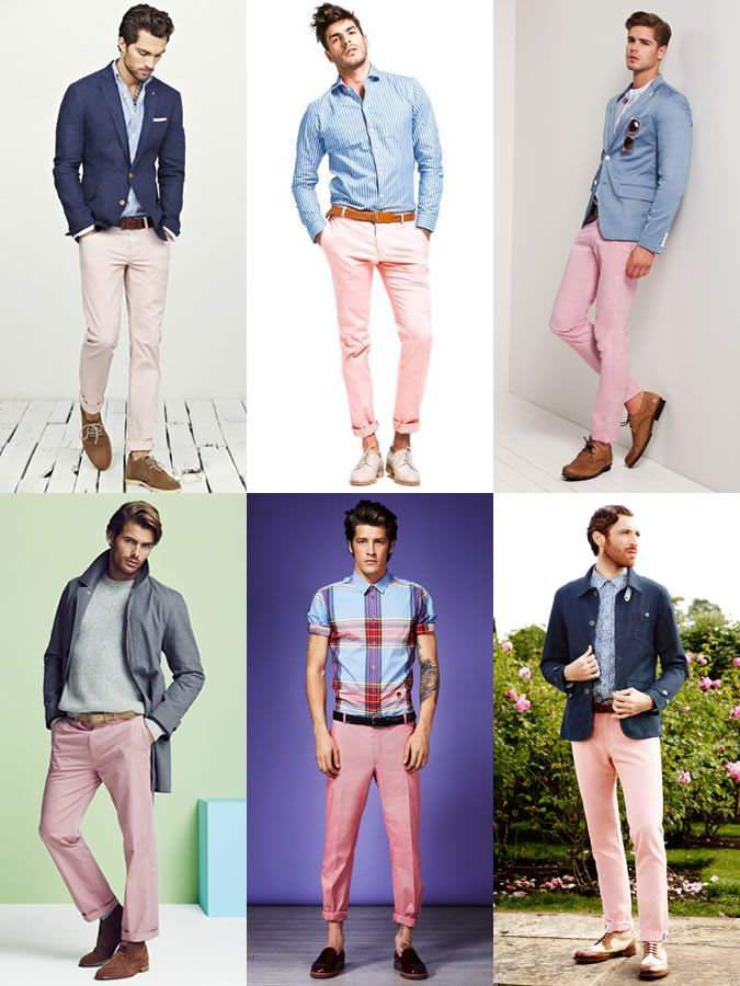 66c6f4c3688 Men s Pink Chinos Outfit Inspiration Lookbook