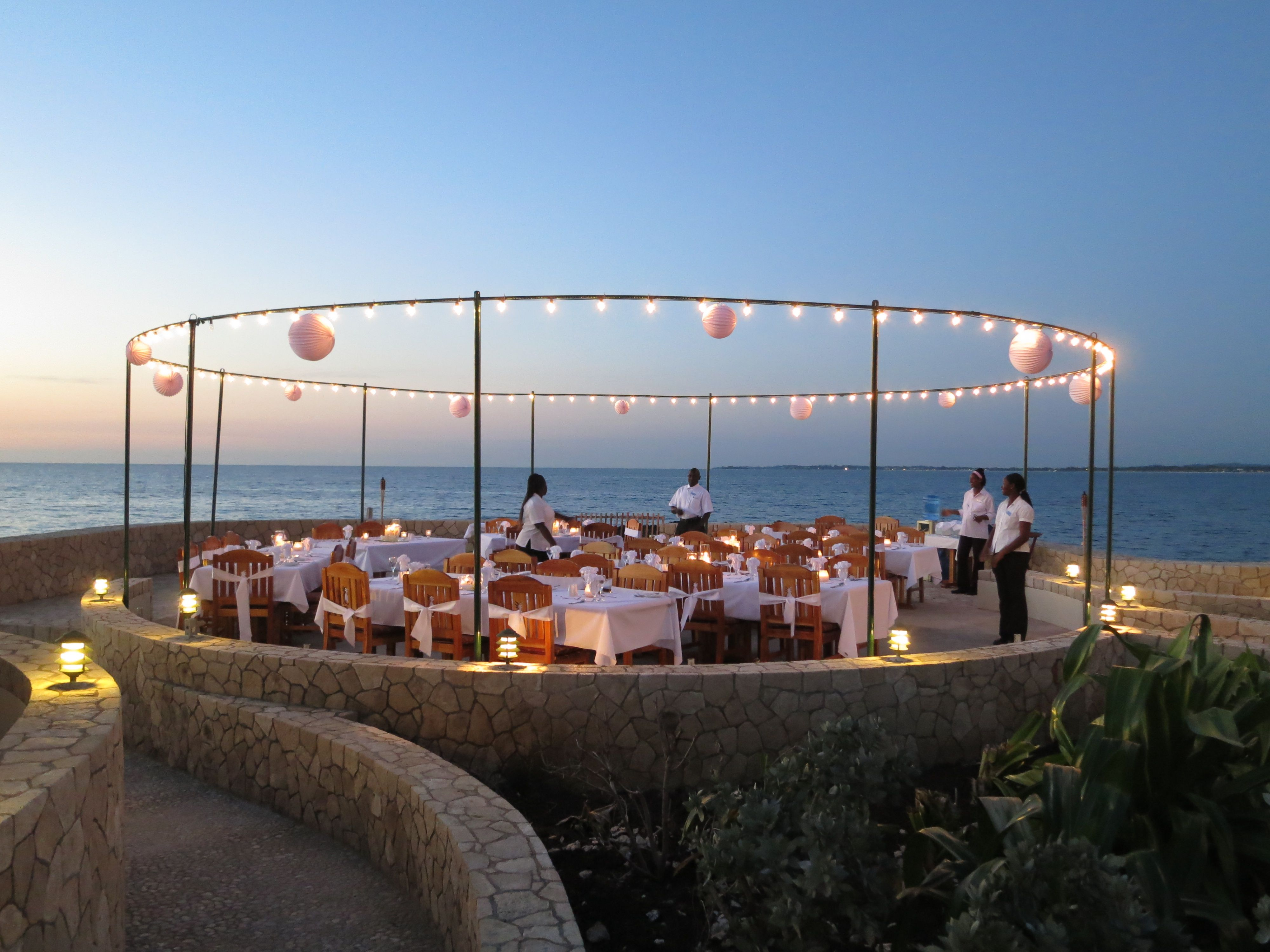 Caribbean Catering Beach Weddings: Cliff Side Caribbean Wedding Reception At The SPA Retreat