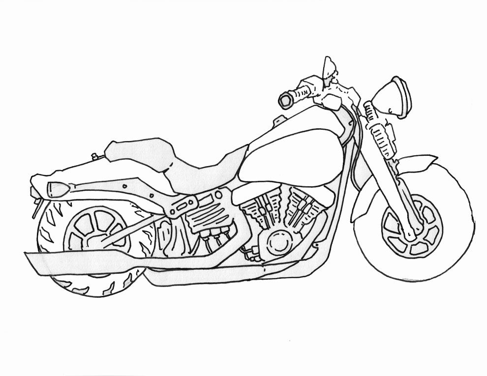How To Draw A Motorcycle With Images Drawings Art Drawing