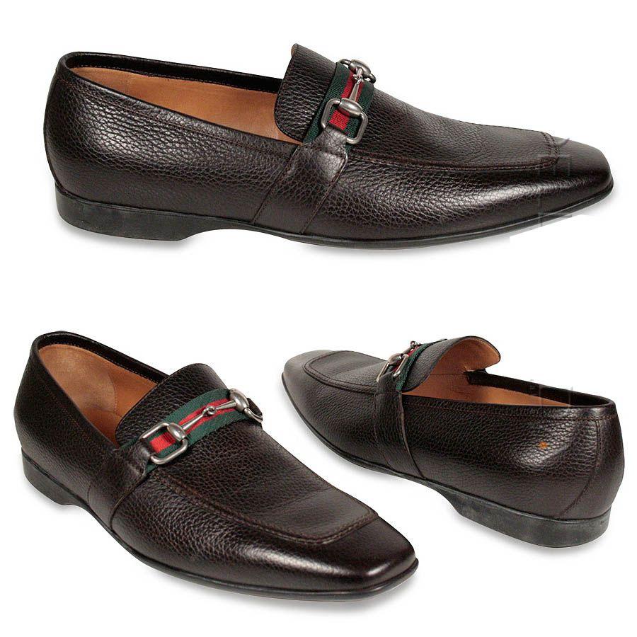 b80dbbd922b4f Gucci shoes Men s Loafers horsebit signature stripe Brown (GGM1536 ...
