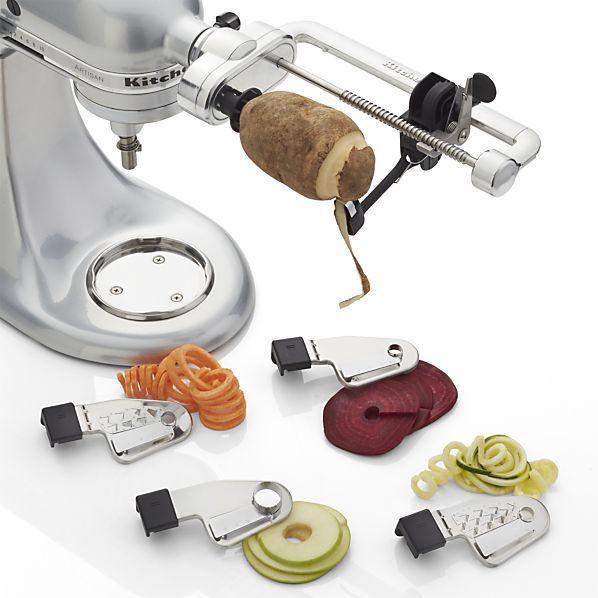 kitchenaid attachments spiralizer. crate \u0026 barrel kitchenaid ® spiralizer attachment kitchenaid attachments f