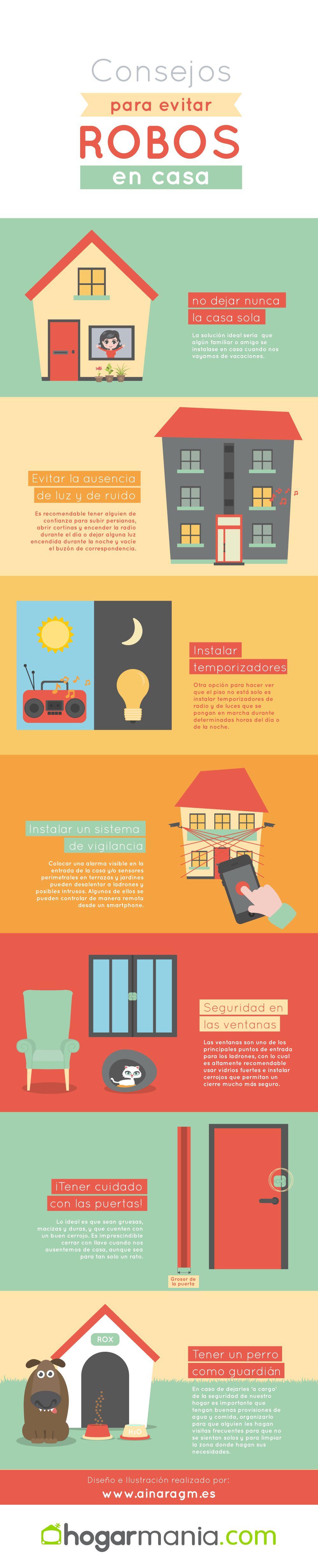 Infografía: 7 consejos para proteger tu casa de robos en vacaciones