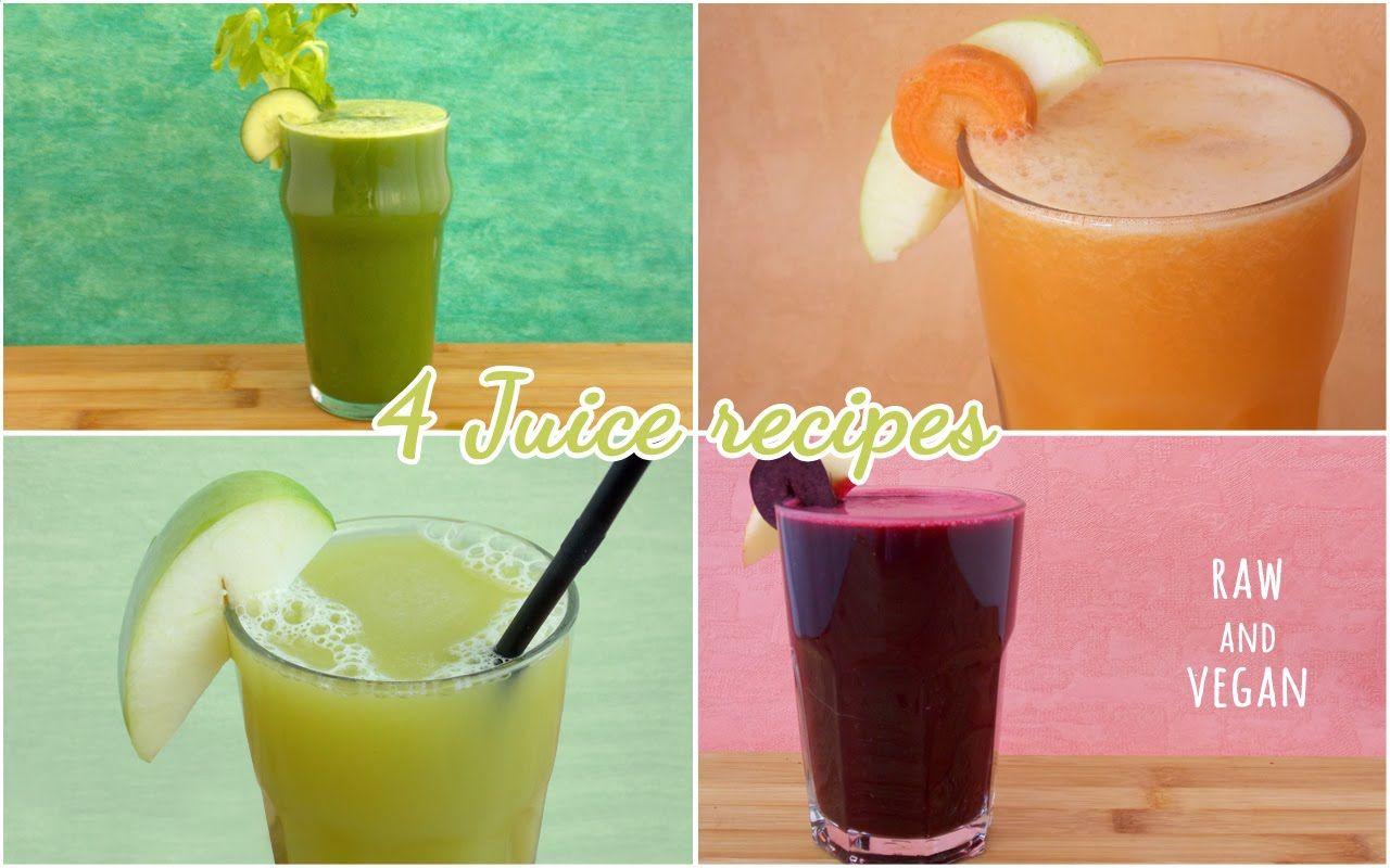 I miei 4 centrifugati preferiti! (4 juice recipes)